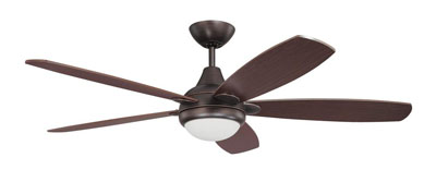 "52"" Copper Bronze Finish Ceiling Fan"