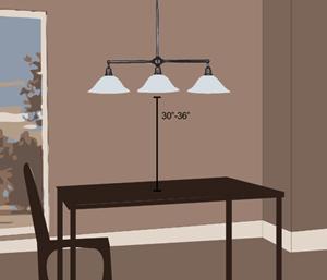 Kitchen Table Light Height Brokeasshome Com